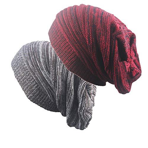 Gorros de Punto Slouch Cráneo Invierno Verano Hip-Hop Sombreros Slouchy Gorro Tejer Boina Ribbed