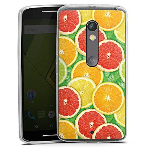 DeinDesign Lenovo Moto X Play Silikon Hülle Case Schutzhülle Lemon Zitrone Sommer Trend