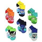 PJ Masks Boys Girls Toddler 6 Pack Quarter Socks (Shoe: 10-4 (Sock: 6-8), Blue/Multi)