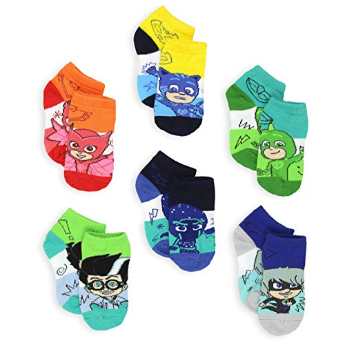 PJ Masks Boys Girls Toddler 6 Pack Quarter Socks (Shoe: 7-10 (Sock: 4-6), Blue/Multi)