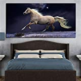 N / A Modern HD Print Horses Running Artistic Oil Painting on Canvas Poster Pop Art Wall Picture for Living Room Decor 50 x 100CM
