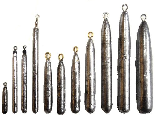 Grapentin Specialties / Catchmore Pencil (Drift) Sinkers, 25 Pack, with Eye, Made in U.S.A, Steelhead Favorite! - #PS3 (3 oz)