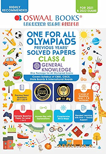 One for All Olympiad Previous Years' Solved Papers, Class-4 General Knowledge Book (For 2022 Exam)