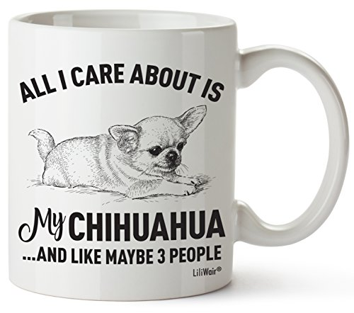 Chihuahua Mom Gifts Mug For Christmas Women Men Dad Decor Lover Decorations Stuff I Love Chihuahua Coffee Accessories Talking Art Apparel Funny Birthday Gift Home Supplies Products Dog Coffee Cup Mugs