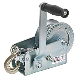 SEALEY gwc2000 m 900 kg capacity toothed hand winch with cable