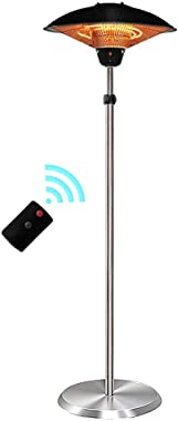 Estery Remote Control Electric Patio Heater Outdoor Waterproof Infrared Carbon Fiber Tube Heaters 600W 900W 1.5KW Portable Fl