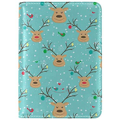 Köstliche Weihnachts-Smiley-Kekse Passport-Brieftasche für Passinhaber für eine sichere Reise langlebig Leicht zu tragen