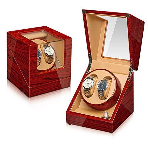 Caja para reloje Watch Shaker Watch Box Cuadro De Almacenamiento Turner Turner Mecánico Mecánico Reloj Winder Watch Box Watch Shaker 2 + 0 Classic Style Shaker(Color:Marfil)
