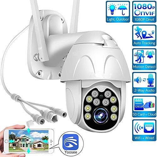 AINSS HD-Überwachungskamera für den Außenbereich 1080P WiFi-Kamera IP-PTZ-Kamera Die CCTV-Kamera bietet Zwei-Wege-Audio, Nachtsicht, Wasserdichtigkeit, Bewegungserkennung und andere Funktionen