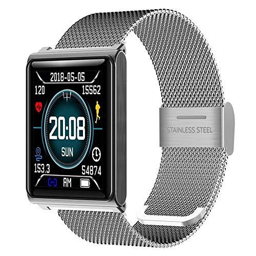 Simshew Fitness-Tracker TZ7 Bluetooth 4.0 Blutdruck Pulsmesser Smart Watch (Schwarz) Herzfrequenz- und Schlafüberwachung