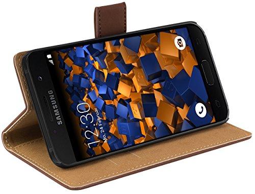 mumbi Tasche Bookstyle Case kompatibel mit Samsung Galaxy A3 2017 Hülle Handytasche Case Wallet, braun