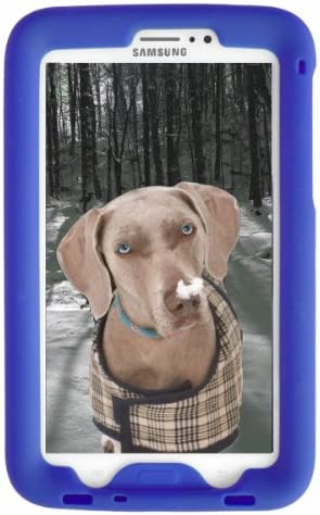 Bobj Rugged Case for Samsung Galaxy Tab PRO (2014) 8.4-inch Tablet, SM-T320, SM-T321, SM-T325 (Not for Tab A 8.4) - BobjGear Custom Fit - Sound Amplification - BobjBounces Kid Friendly (Batfish Blue)
