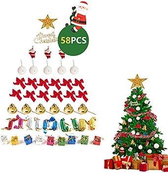 58-Pieces Christmas Tree Decoration Ornament Sets