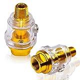 WJMY Mini oliatore ad aria compressa Mini lubrificatore da 1/4'per tubo compressore d'aria utensile pneumatico - 2 pezzi