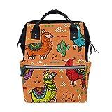 ALINLO - Bolsa de pañales con diseño de cactus de alpaca, de gran capacidad, multifunción, para viajes