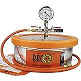 BACOENG 1 Gallon Flat Vacuum Chamber Silicone Kit...