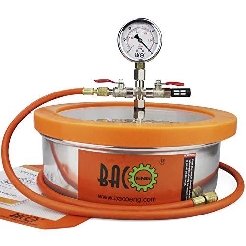BACOENG 1 Gallon Flat Vacuum Chamber Silicone Kit