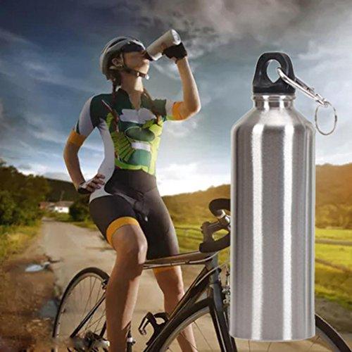 Sport-Luo Bottiglia per l'acqua Borracce Bici Bottiglia d'Acqua Sportiva - Acciaio Inossidabile Piccola Bocca Bere Acqua Bottiglia Sport Bevanda Bollitore - capacità: 400/500 / 600ML (500ML)