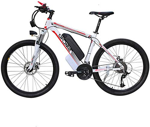RDJM Ebikes 350W Electric Mountain Bike 26'' Tire 48V Removable Large Capacity Lithium-Ion Battery, E-Bike 21 Speeds Gear Disc Brakes