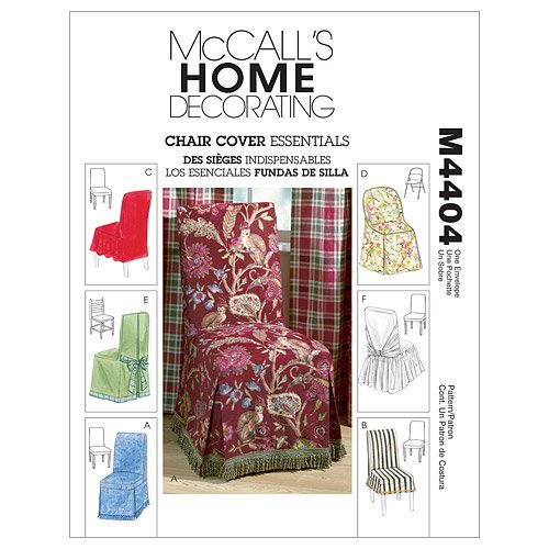 McCall's Patterns M4404 Chair Cover Essentials, One Size Only
