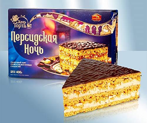 Torte mit Füllung, mit Erdnüssen und Haselnüssen in kakaohaltuger Glasur 400g