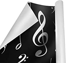 Gift Wrapping Paper Roll Abstract Music Notes for Birthday,Holiday,Wedding,Baby Shower Gift Wrap - 3Rolls - 58inch x 23inch Per Roll