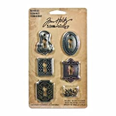 Keyholes can be used on scrapbook pages, greeting cards, for home decor, and jewelry Includes five keyholes measuring approximately 1-1/2 by 1-inch Antique brass, antique Nickel, and antique Copper