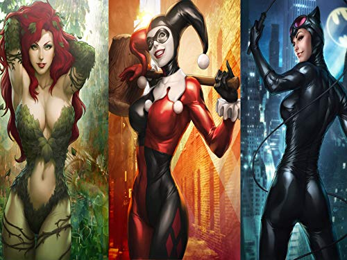 Harley Quinn Catwoman Poison Ivy Comics Hot Girl Poster 18 × 24 Inches