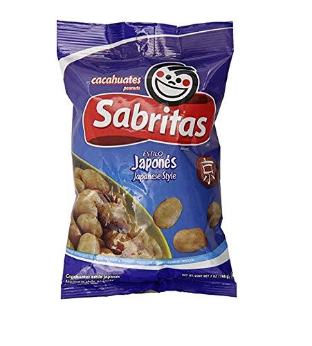 Sabritas Japanese Style Peanuts 7oz Bag (Pack of 2)