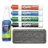 EXPO 80653 Low Odor Dry Erase Marker Starter Set Chisel Assorted 4/Set