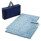 西川リビング スヌーピー お昼寝布団 セット 5点 洗える 保育園 収納バッグ付き 持ち運び便利 おひるね ふとん ブルー ヒッコリーストライプ 158860015230 スヌーピー