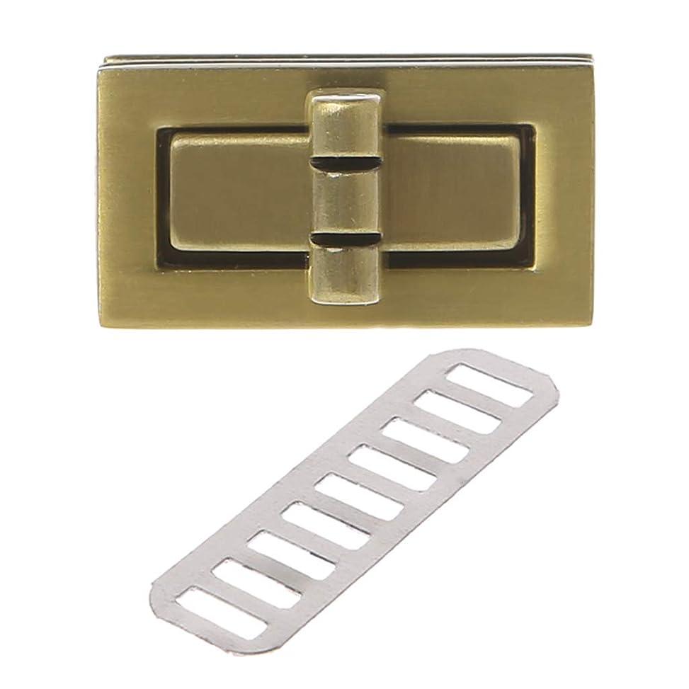熱心な熱意長いですSimpleLifeの回転ロックのねじれロック、DIYの革ハンドバッグ袋ハードウェアのための長方形の形の留め金