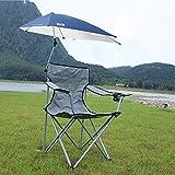 Yyqtzdy Klappstuhl Camping Klappstuhl Ultraleicht mit Markise Lounge Chair Sonnencreme Tragbarer...