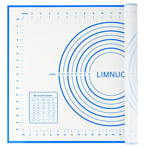LIMNUO Large Silicone Pastry Mat Extra Thick Non Stick...