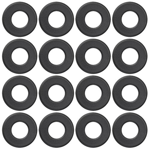 Brybelly Universal Black Nylon Washers for Standard Foosball Tables (Pack of 16)