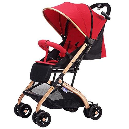 Kinderfiets HAIZHEN Baby kinderwagen kan zitten liggend lichtgewicht vouwen Variabele trolley case Gratis installatie voor pasgeboren