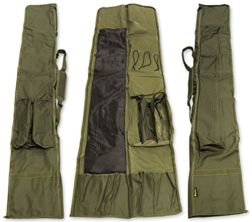 Carp Fishing 3 + 3 Michigan Rod & Reel Padded Holdall Tackle Bag For 12 Foot Rods