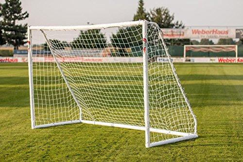 POWERSHOT Fußballtor PRO 3,7 x 2 m aus uPVC WETTERFEST, Inkl. Klicksystem und Zubehör, VERLETZUNGSSICHER (Tor)