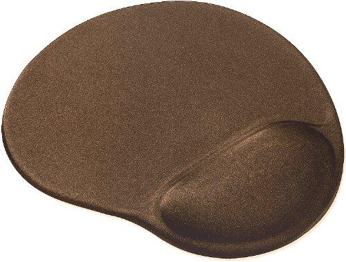 Speedlink Vellu Gel-Mauspad mit Handballenauflage (Unterlage mit Handgelenkauflage, Gel-Kissen zur Entlastung des Handgelenk) braun