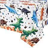 WERNNSAI Tovaglia Dinosauro - 1PCS 137 x 274cm Dinosaur Party Forniture per Bambini Ragazzi Dino Tema Festa di Compleanno Decorazione Dinosaur Stampato Rettangolare Plastica Monouso Copritavolo