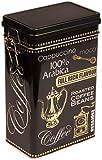 Negro Arabica Coffee–Estilo vintage–Caja metálica de almacenamiento para café/té/Lata rectangular...