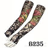 tzxdbh Manga de Hielo de Camuflaje Manga de Tatuaje de Seda de Hielo Real Los Pulgares Pueden Colocar los Dedos Protector Solar B235 Brazo Recto Circunferencia del Brazo 17-50 cm Disponible