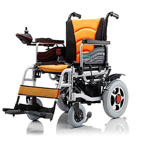 Inicio Accesorios Silla de ruedas autopropulsada para personas mayores Patineta eléctrica plegable ligera con controlador y protector de piernas extraíble para ancianos discapacitados y pacientes c