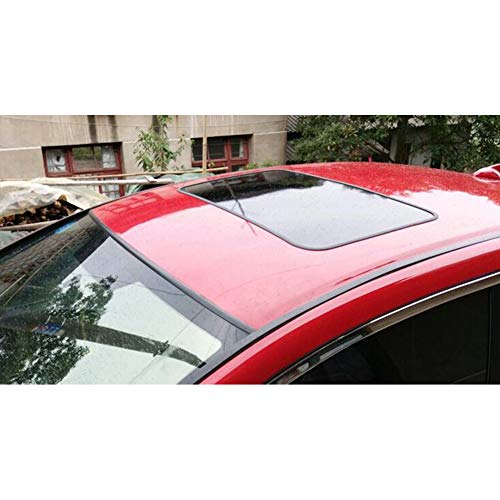 FairOnly PVC brillante coche techo vinilo vinilo pegatinas simulación Panorámica techo corredizo película protectora cubre 78 x 38 cm con adornos de limpieza y renovación de coches productos