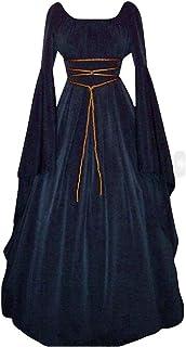Modaworld Donna Punk Gotico Felpa con Cappuccio a Maniche Lunghe Medievale Costume Abito Tops Gotico Fancy Cosplay Assassino