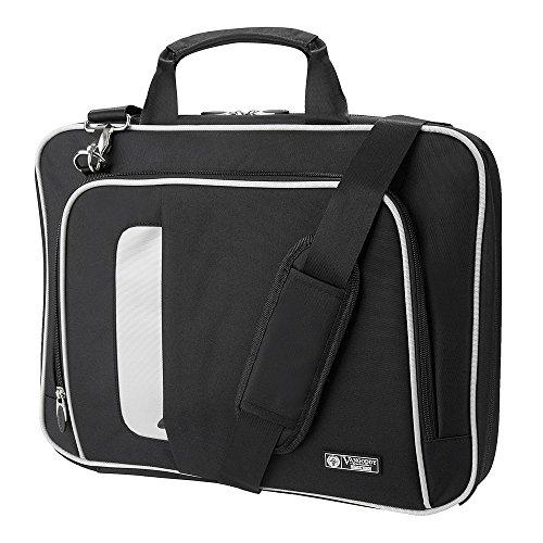Vangoddy Laptop Bag Crossbody Shoulder Bag for Microsoft Surface Pro 4 3 2 1 Tablet, Black Colorado