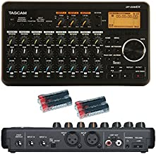 Tascam DP-008EX 8-Track Digital Multitrack Recorder with Free 4 Universal Electronics AA Batteries