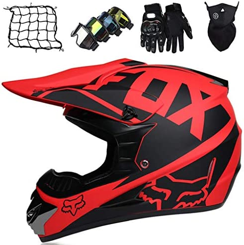 Full Face MTB Helmet Kids Adult Motocross Helmet Motorbike Downhill Crash Helmet Set Mens Womens product image