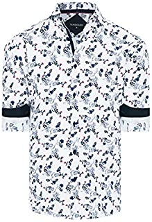Tarocash Men's Lawrence Floral Print Shirt Regular Fit Long Sleeve Sizes XS-5XL for Going Out Smart Occasionwear