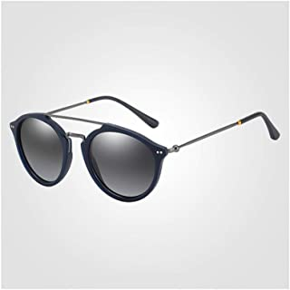 ZMP Ultra Light Metal Hybrid Polarized Sunglasses UV400 Classic Fashion Bicycle Sunglasses Unisex (Color : Gun5)